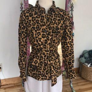 Lauren Ralph Lauren leopard blazer. Size XS
